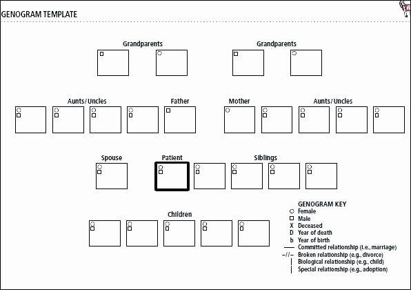 Genogram Template for Mac Beautiful Blank Genogram form – Allcoastmedia