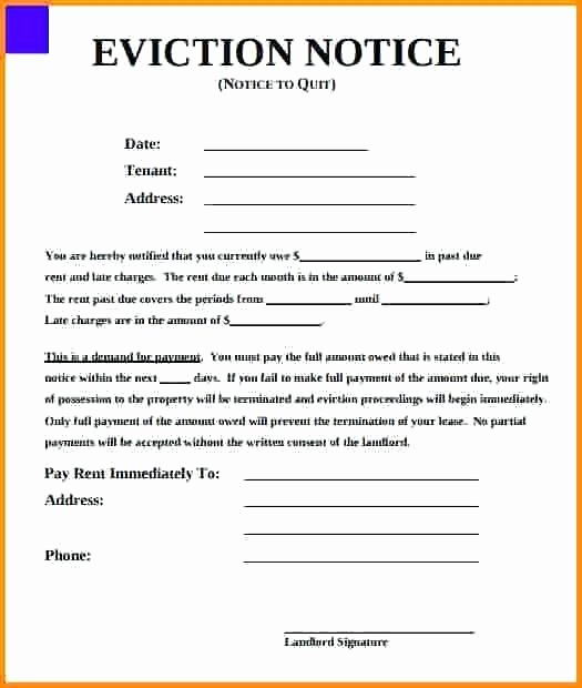 Georgia Eviction Notice Template Fresh Copy 4 Eviction Notice Template Printable form formal