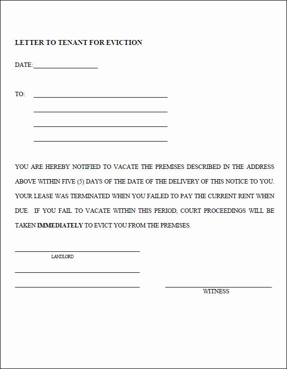 Georgia Eviction Notice Template Fresh Eviction Notice Template Pdf