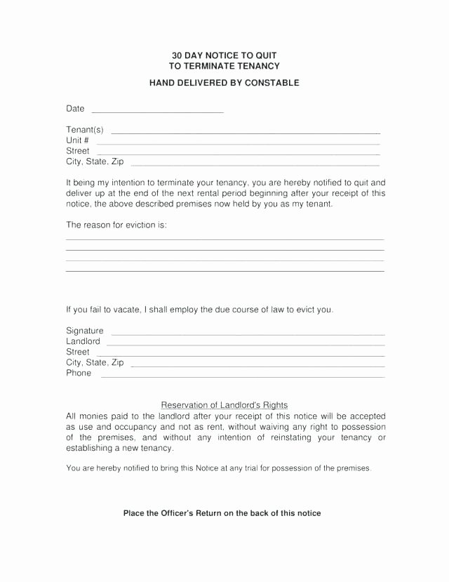 Georgia Eviction Notice Template Lovely Copy 4 Eviction Notice Template Printable form formal