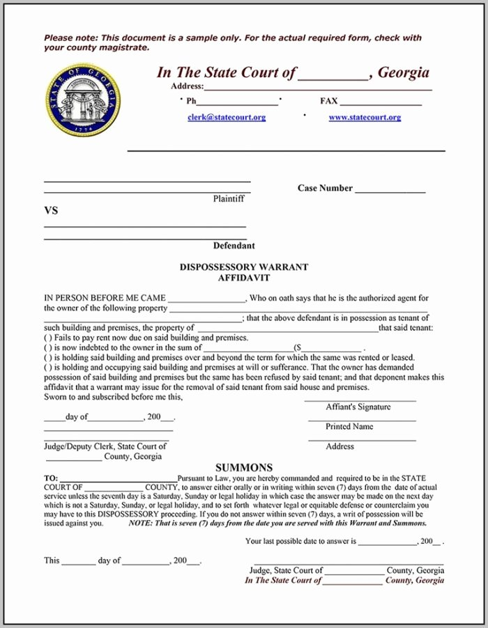Georgia Eviction Notice Template Lovely Eviction Notice form south Carolina Template Resume
