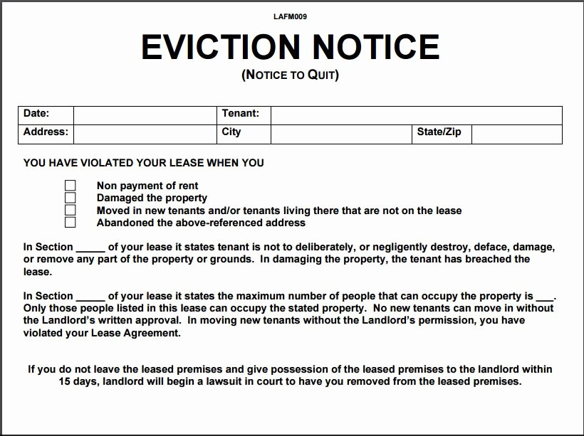 Georgia Eviction Notice Template Unique 12 Eviction Notice Template Examples