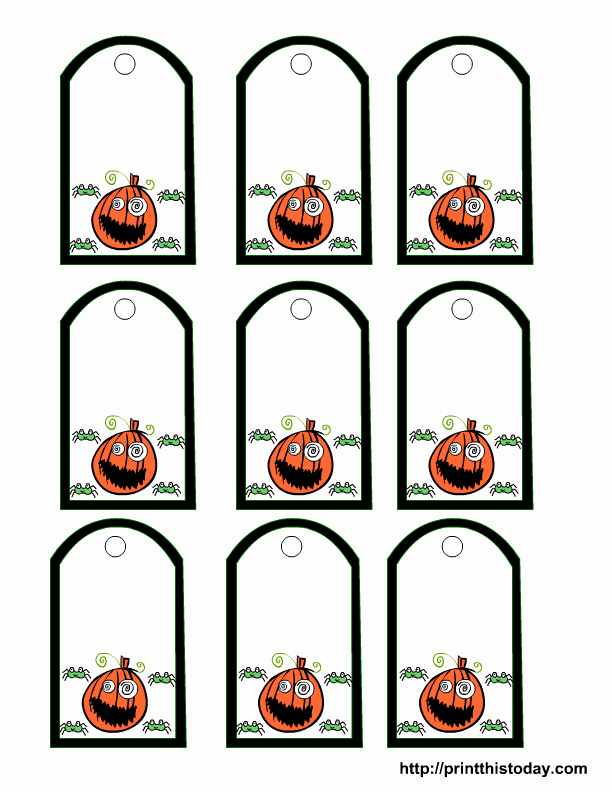 Gift Bag Tag Template Awesome 9 Best Of Printable Halloween Tags Halloween
