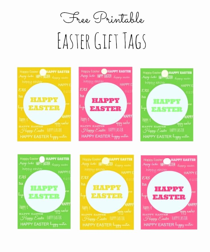 Gift Bag Tag Template Beautiful Easter T Tags Free Printable Template