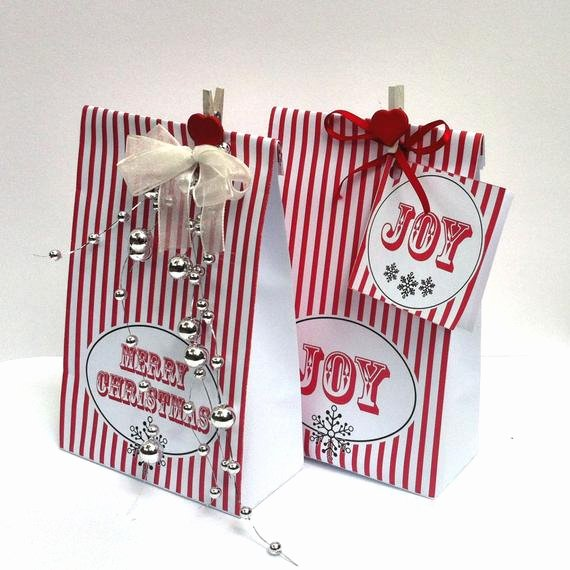 Gift Bag Tag Template Best Of Red Stripe Christmas Gift Bag Template Make by