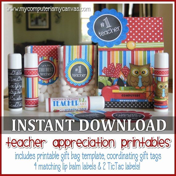 Gift Bag Tag Template Unique Teacher Appreciation Printables Gift Set Teacher Appreciation