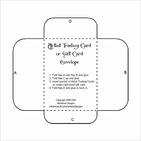 Gift Card Envelope Template Best Of 10 Gift Card Envelope Templates Free Printable Word