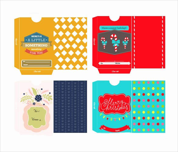 Gift Card Envelope Template Elegant 10 Gift Card Envelope Samples