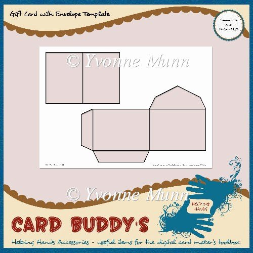 Gift Card Envelope Template Inspirational Gift Card with Envelope Template – Cu Pu £1 80 Instant