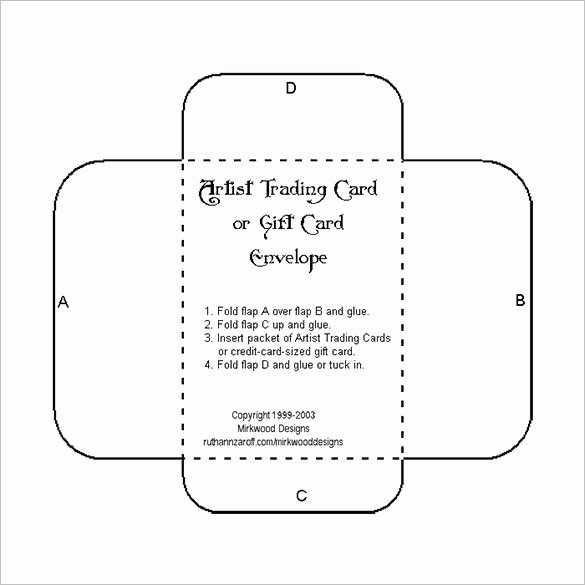 Gift Card Envelope Template Lovely Printable Gift Card Envelope Template