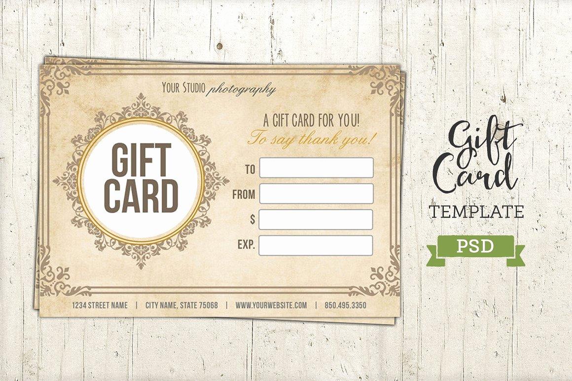 Gift Card Template Psd Beautiful Gift Card Template Psd Certificate Templates