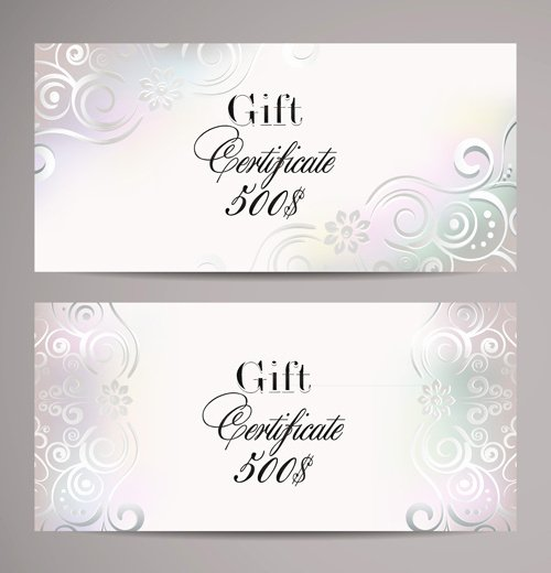 Gift Card Template Psd Fresh ornate T Certificates Template Vectors Free Vector In