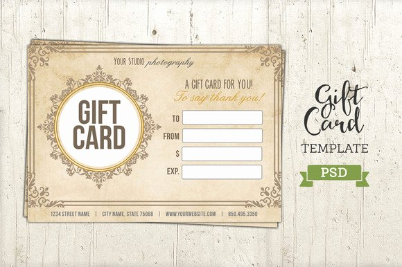Gift Card Template Psd Inspirational Free Graphy Gift Certificate Template Psd