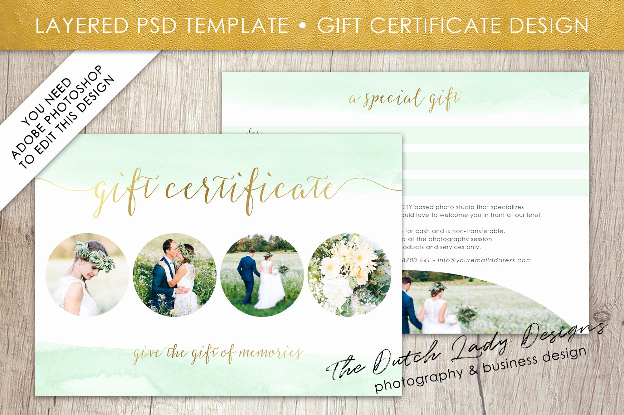 Gift Card Template Psd Inspirational Psd Gift Certificate Card Template Graphic by