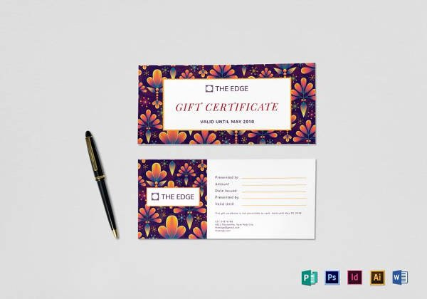 Gift Card Template Psd Lovely 83 Psd Certificate Templates