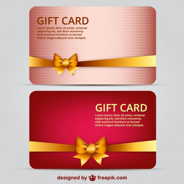 Gift Card Template Psd Luxury Gift Card Template Vector