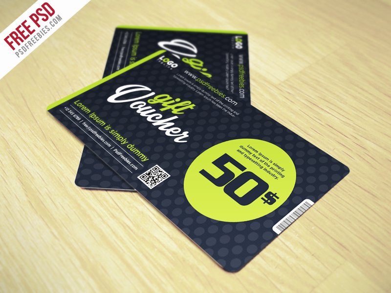 Gift Card Template Psd New Clean and Modern Gift Voucher Template Psd Psdfreebies