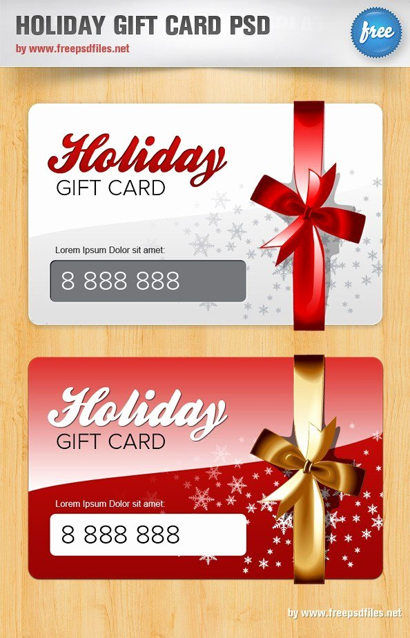 Gift Certificate Template Psd Awesome Holiday Gift Card Psd Template Free Psd Files