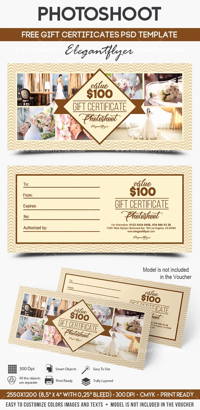 Gift Certificate Template Psd Awesome Shoot – Free Gift Certificate Psd Template – by