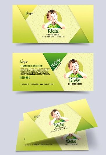 Gift Certificate Template Psd Best Of Kids – Free Gift Certificate Psd Template – by Elegantflyer