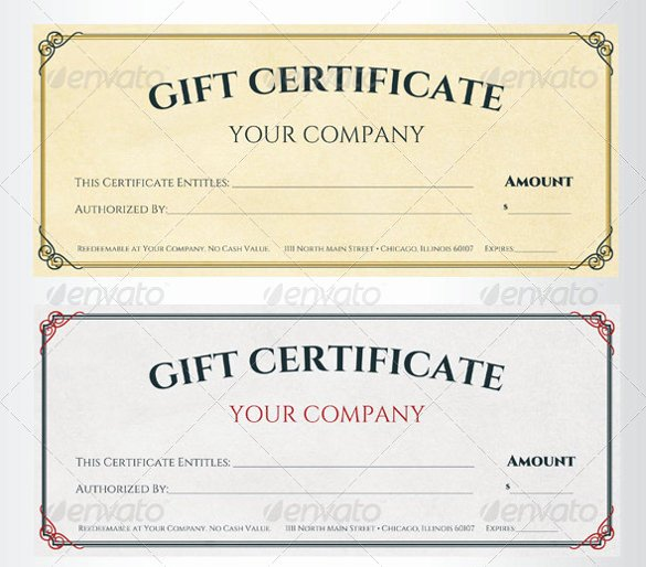 Gift Certificate Template Psd Best Of Sample Gift Certificate Template 39 Documents Download
