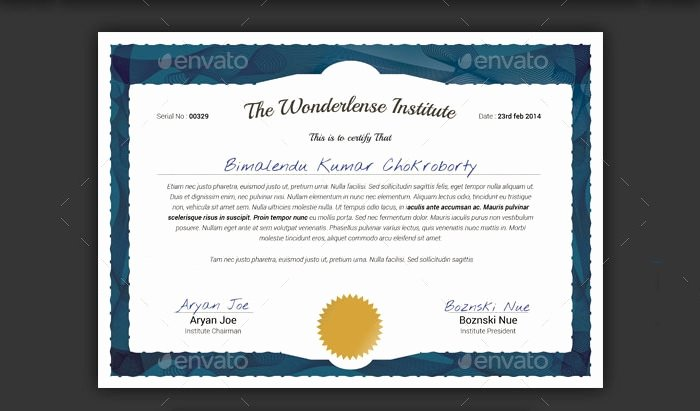 Gift Certificate Template Psd Lovely 83 Psd Certificate Templates