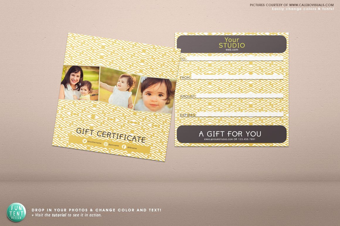 Gift Certificate Template Psd Luxury 5x5 Gift Certificate Voucher Psd Stationery Templates