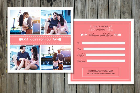 Gift Certificate Template Psd Unique Graphy Gift Certificate Templates – 17 Free Word