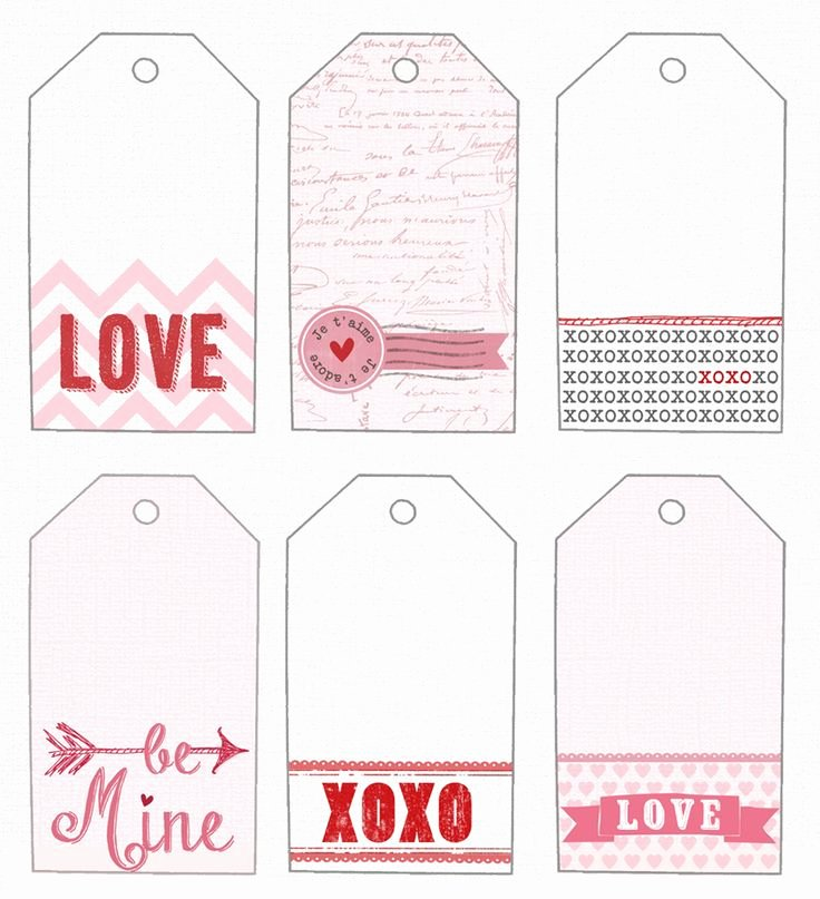 Gift Tag Template Free Beautiful Free T Tags Template Valentine S Day