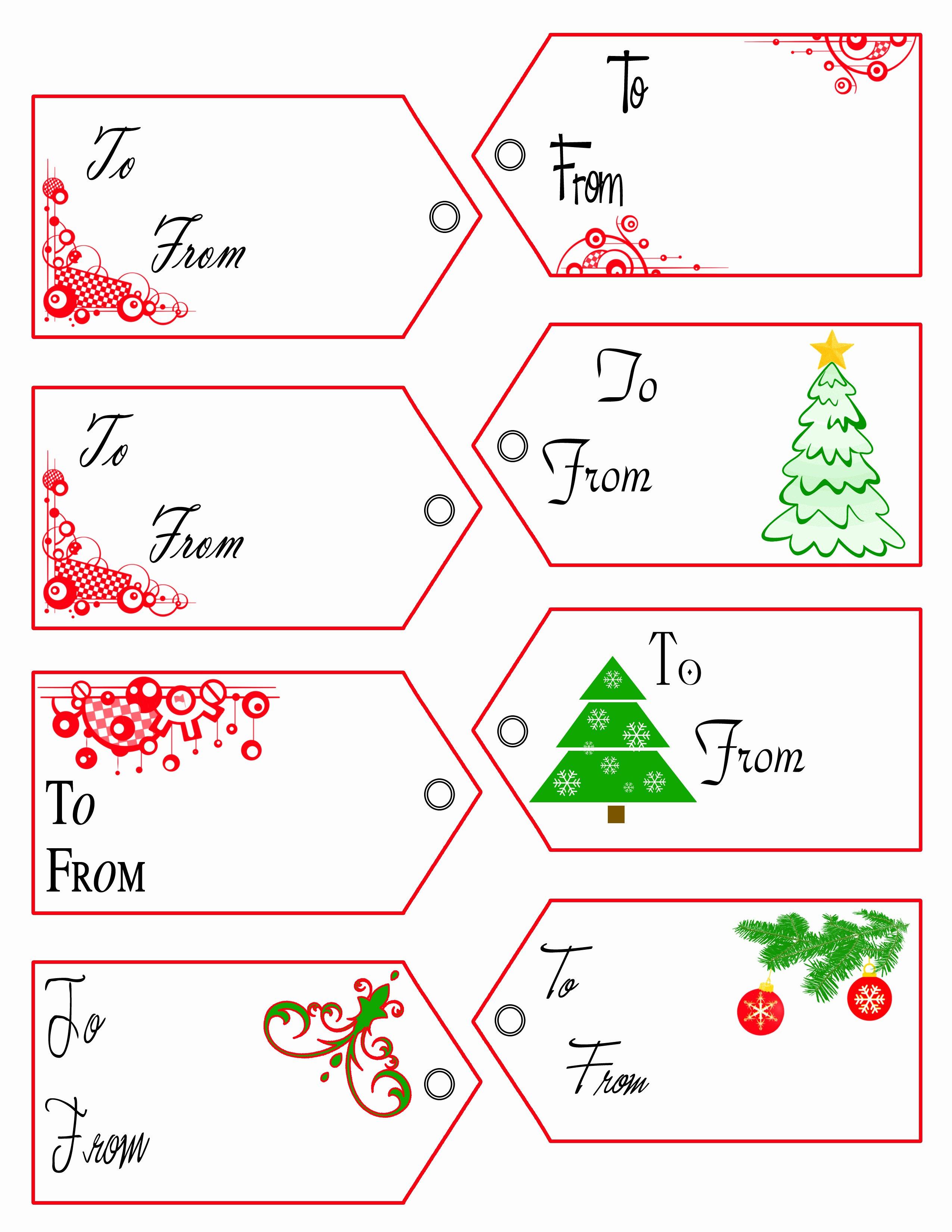 Gift Tag Template Free Elegant Free Printable Christmas Gift Tags Templates Christmas