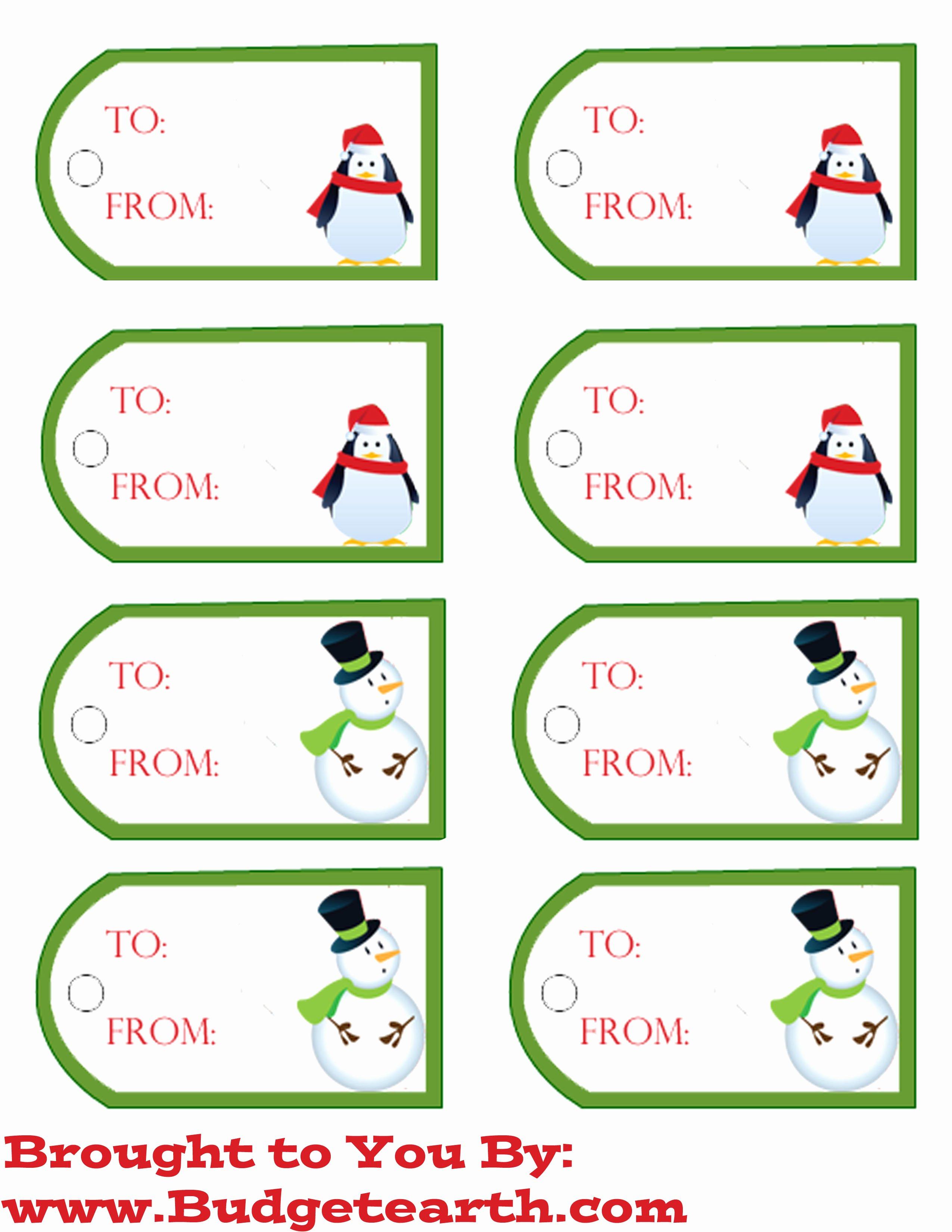 Gift Tag Template Free Fresh Free Printable Christmas Gift Tags