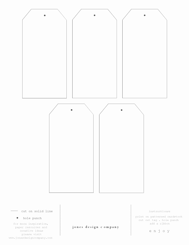 Gift Tag Template Free New Diy T Tags Free Template and Printable Paper