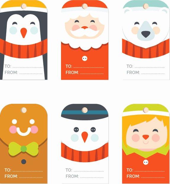 Gift Tag Template Word Awesome Free Christmas Gift Tag Templates Editable & Printable
