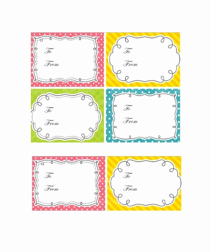 Gift Tag Template Word Luxury 44 Free Printable Gift Tag Templates Template Lab