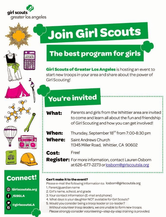 join girl scouts informational meeting