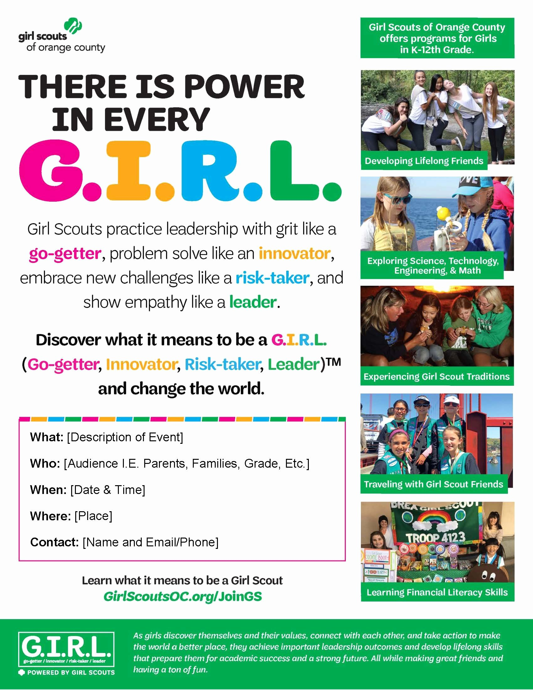 Girl Scout Flyer Template Awesome Recruitment Resources