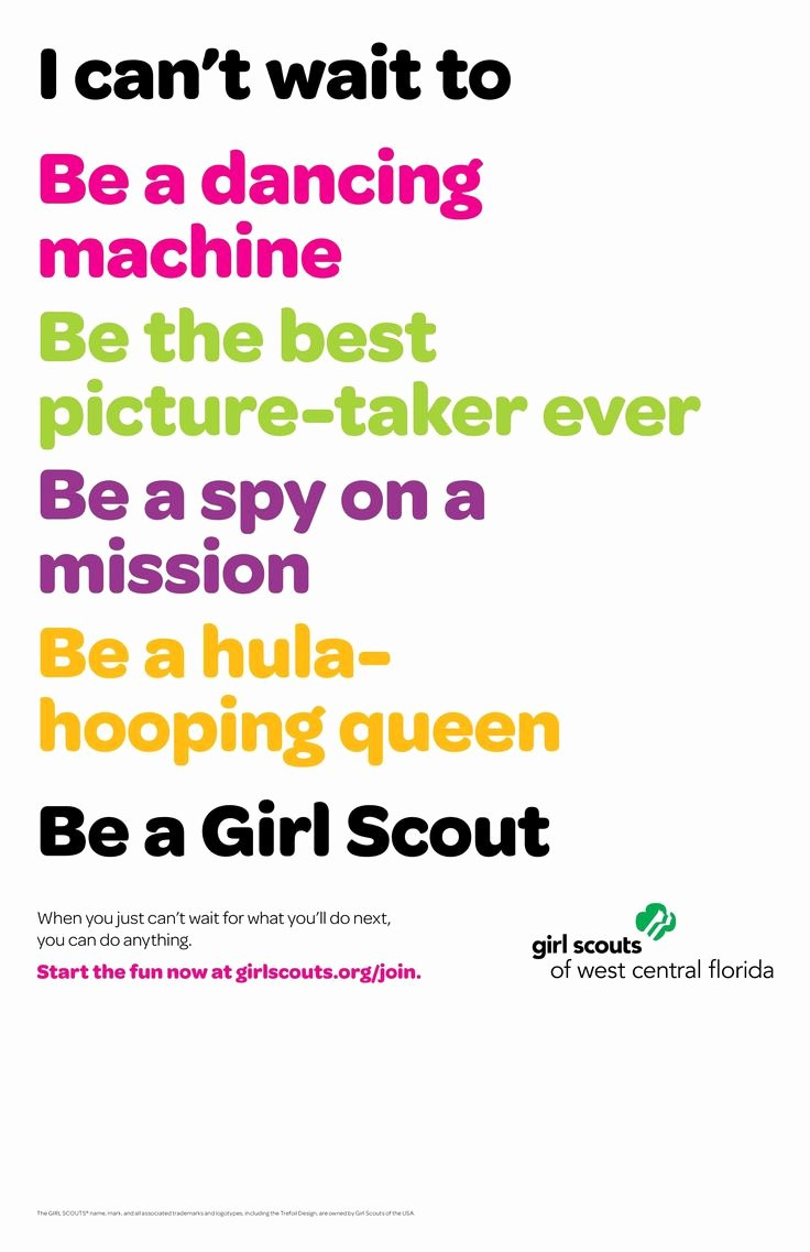 Girl Scout Flyer Template Beautiful This Would Be A Great Recruitment Flyer for Next Year