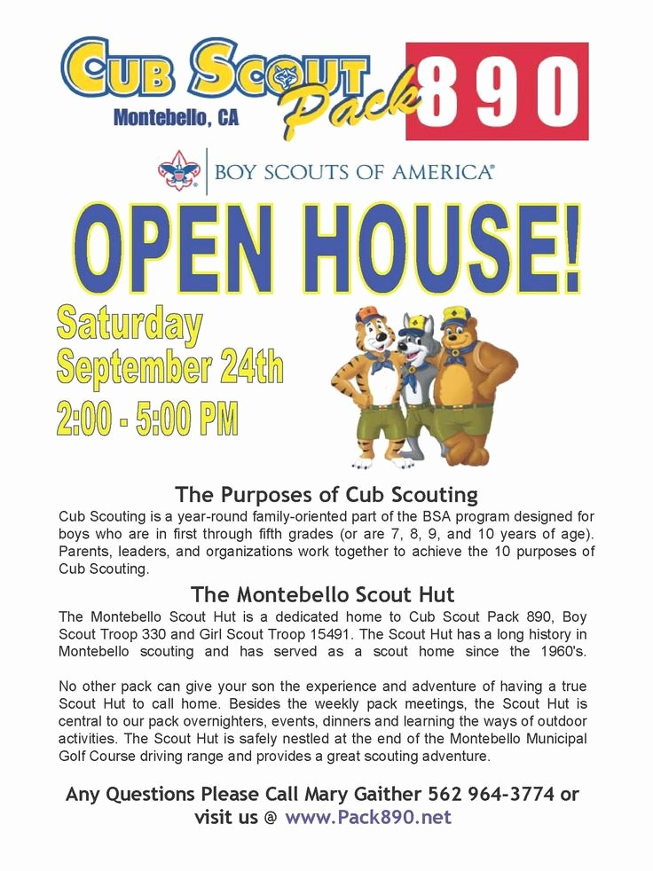 Girl Scout Flyer Template Best Of Cub Scout Recruitment Flyer Template