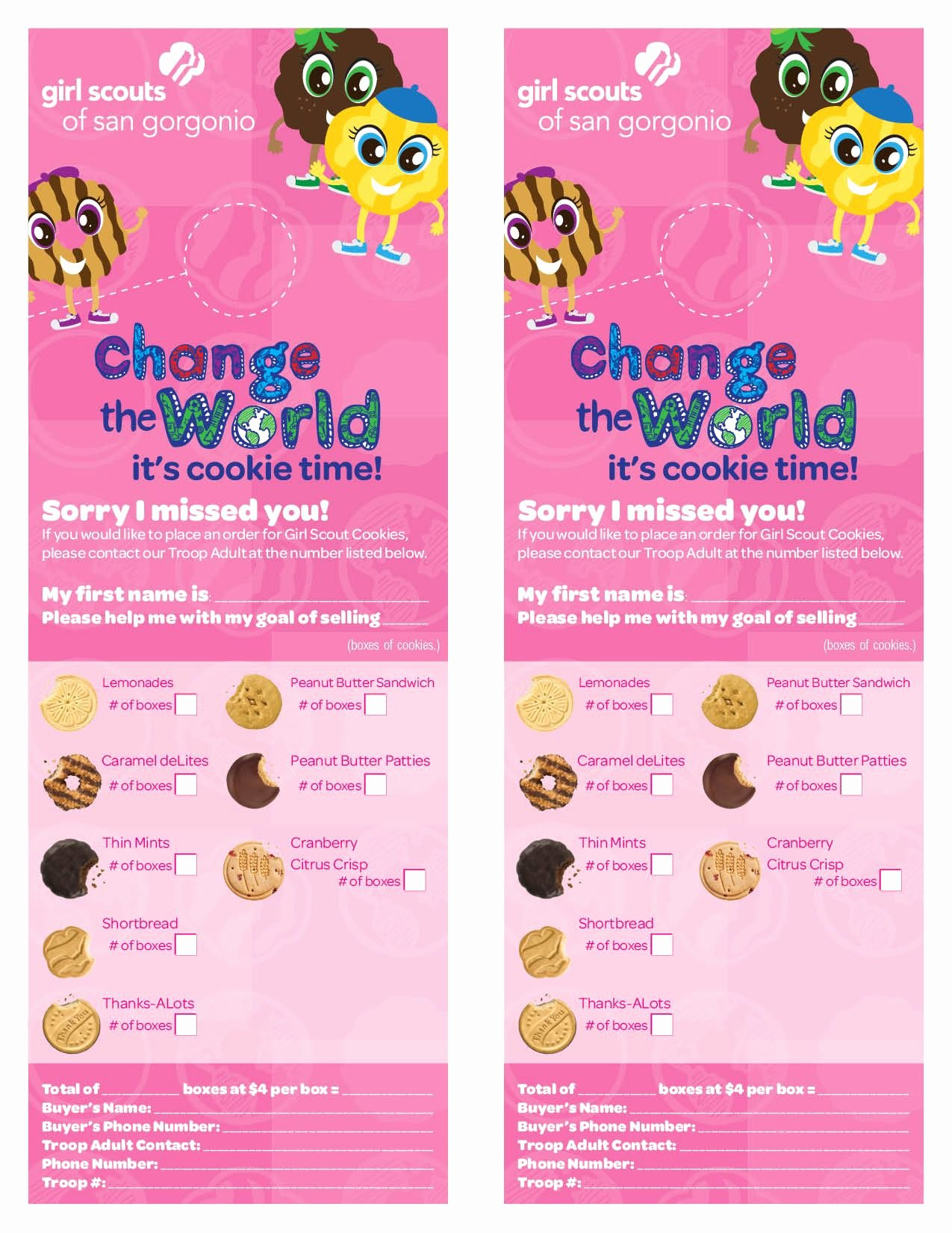 Girl Scout Flyer Template Inspirational Girl Scout Cookie Flyer Template Google Search