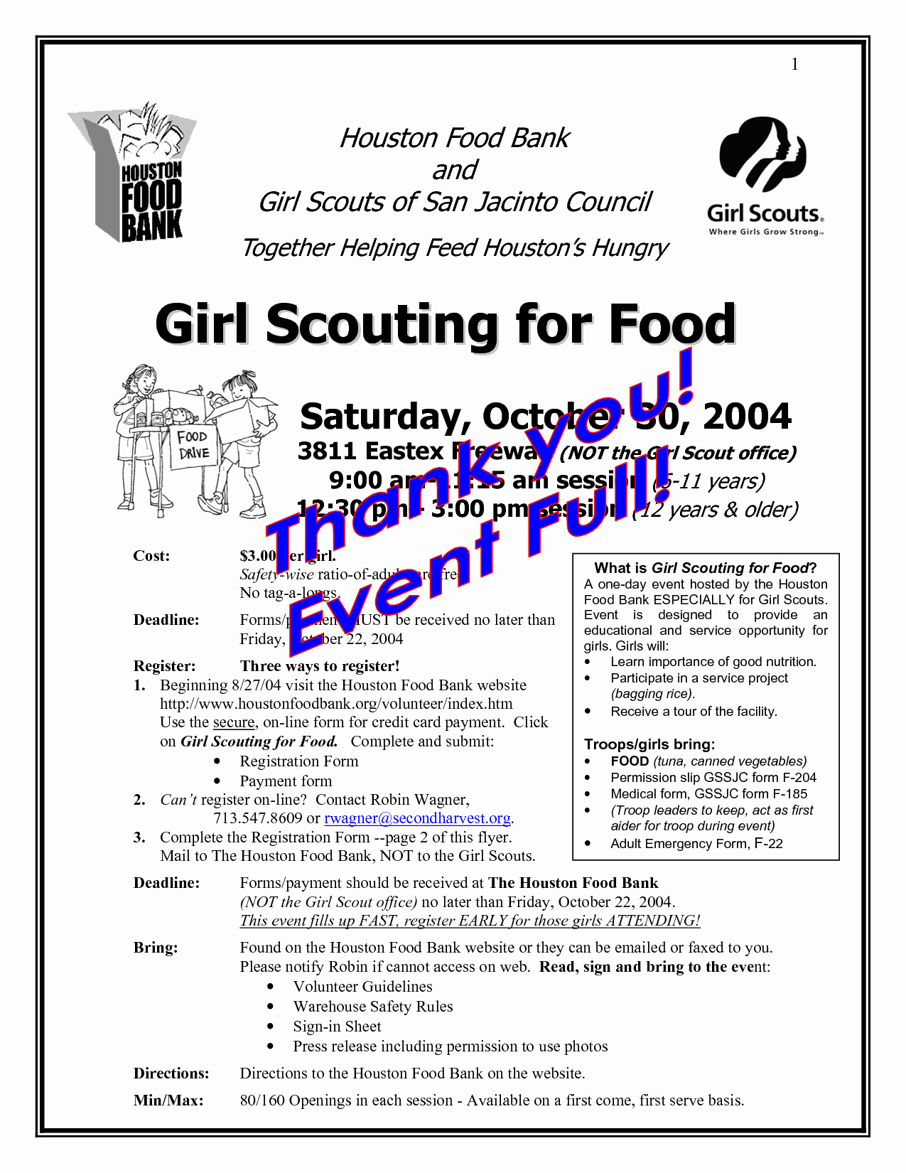 Girl Scout Flyer Template Lovely 10 Best Of Food Pantry Flyer Sample Food Bank