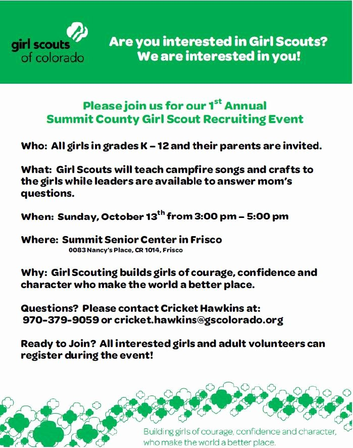 Girl Scout Flyer Template Lovely Girl Scout Recruitment Flyer Template Yourweek Ab099eeca25e