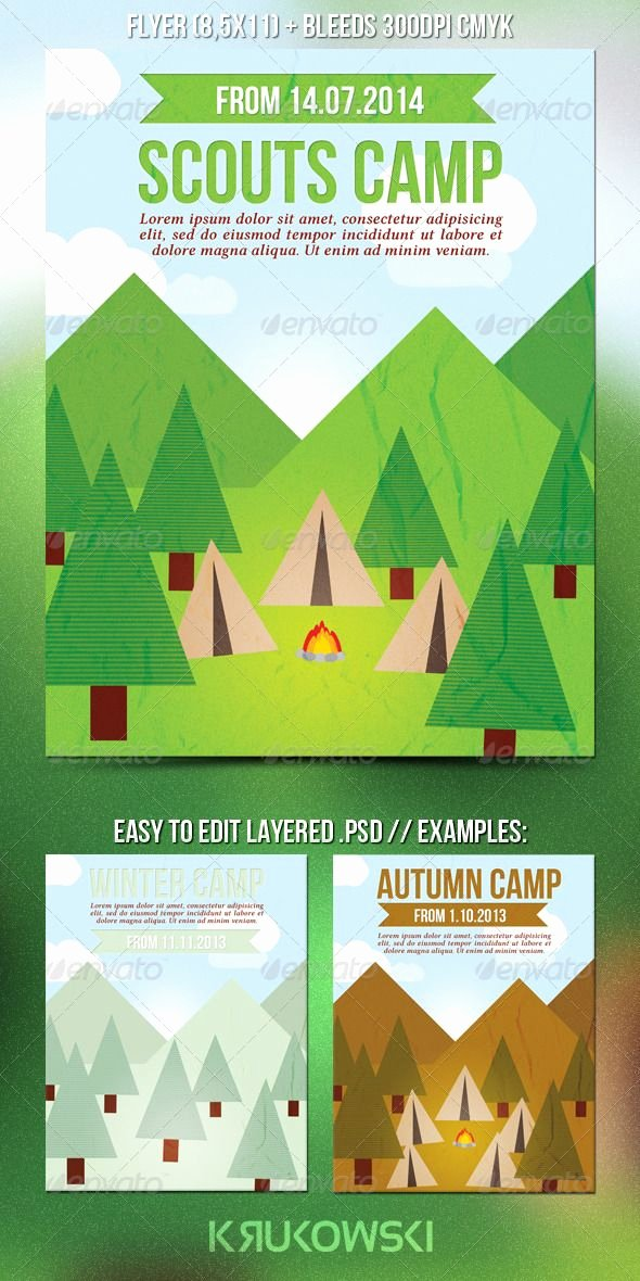 Girl Scout Flyer Template Lovely Scouts Summer Camp Flyer