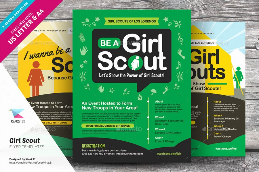 Girl Scout Flyer Template New Girl Scout Flyer Templates by Kinzi21