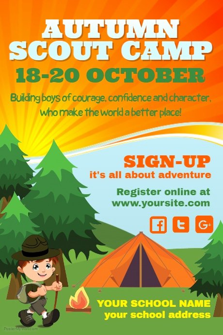Girl Scout Flyer Template Unique Copy Of Scouts Camp Poster Template