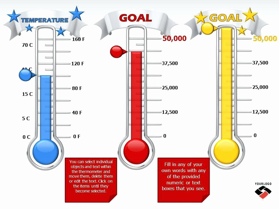 Goal thermometer Template Excel Awesome Fundraiser thermometer Fundraising Goal Template Tracker