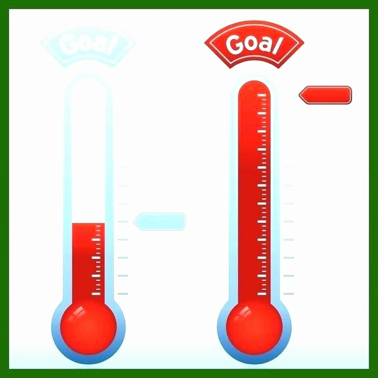 sales goal thermometer template best templates free excel