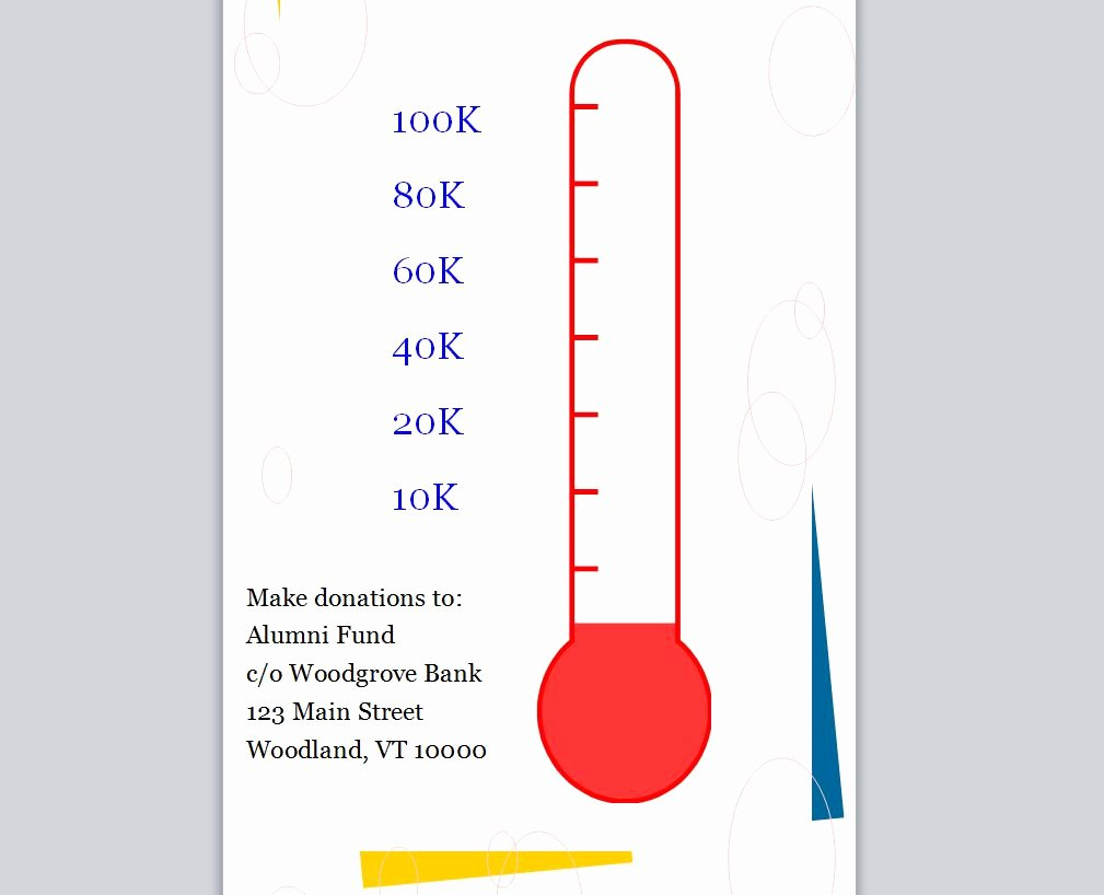 Goal thermometer Template Excel Elegant Excel thermometer Goal Templates Editable