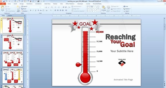 Goal thermometer Template Excel Lovely Excel thermometer Goal Templates Editableml
