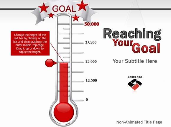 Goal thermometer Template Excel Luxury Excel Fundraising Goal