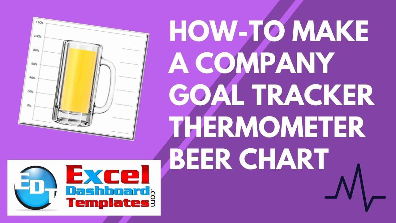 Goal thermometer Template Excel Luxury How to Make An Excel Pany Goal Tracker thermometer Beer